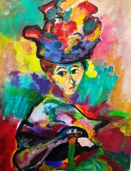 Repro Matisse - La femme au chapeau