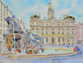 2020-39 - Lyon Fontaine Pace des Terreaux - cadre 40x50 - HD