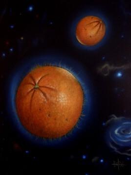 Oranges de l'espace