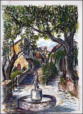 Dessin village