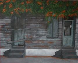 Maison antillaise abandonnée.