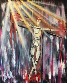 Lueur christique sur pantin damné
