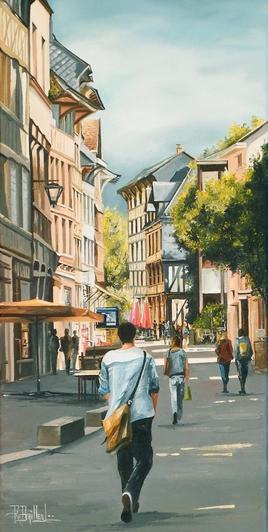 Rouen rue eau de Robec