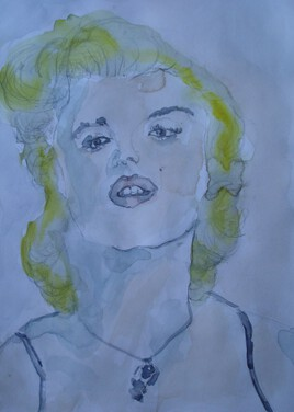 portrait de marylin monroe