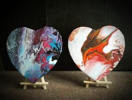 Coeurs abstrait