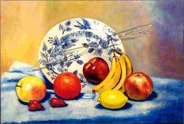Assiette et Fruits