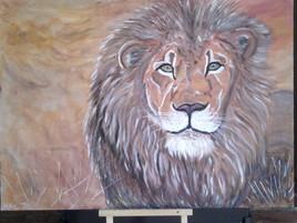 """""""le lion dans la brousse"""""""