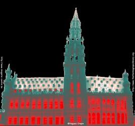 Hôtel de ville de Bruxelles en thermographie