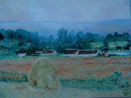 Meule à Giverny (d après Claude Monet)