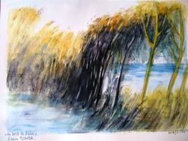 Au bord de l'eau, d'après Turner
