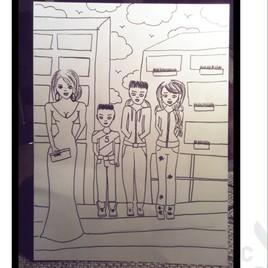 Famille a la ville
