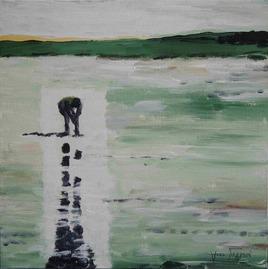 Peinture Pêcheur à pied