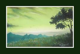 Peinture Prairie d'altitude
