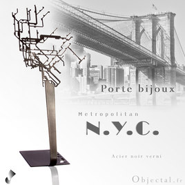 Porte bijoux Metro New York en acier by Objectal