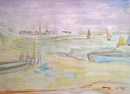Petit port de peche en France dans les années 1960