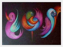 oiseaux qui dansent