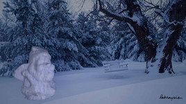 Beau gnome de neige