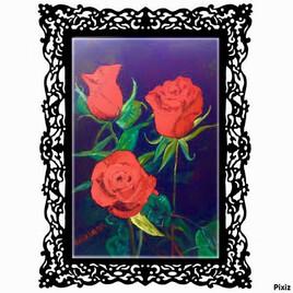 Les rose rouge