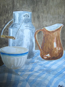 nature morte au pot de lait