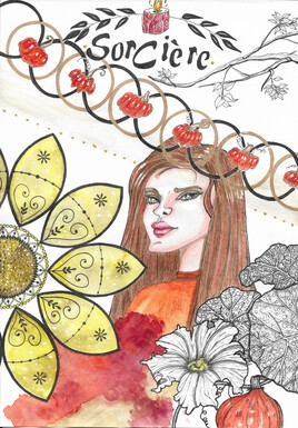 Portrait d'une Sorcière et mandala
