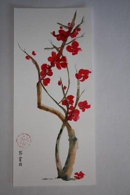 Fleurs de prunier japonais