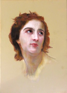Regard pensif reproduction de William Bouguereau