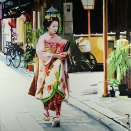 geisha au velo