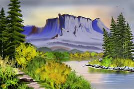 Le chemin dans la montagne