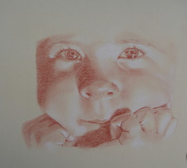 petite fille, autoportrait