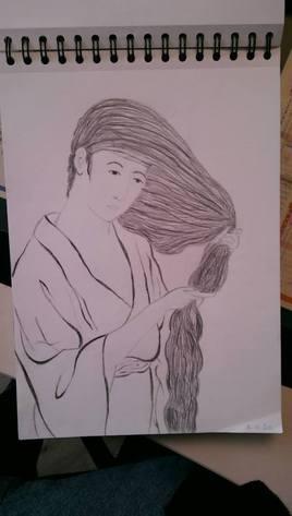 """Croquis crayons """"Les cheveux"""""""
