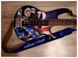 guitar bass airbrush design ... indians.r.brush Nimes
