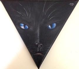 Les yeux du chat noir