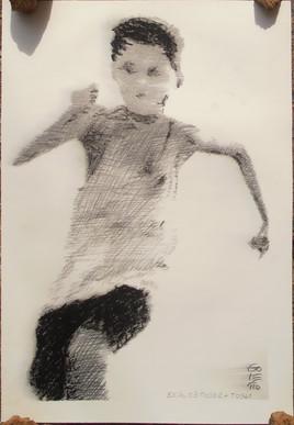GOLETTO : Etude enfant qui court pour toile