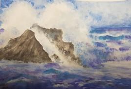 Les rochers et la mer