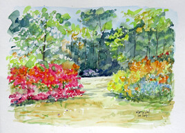 A Boutiguery azalées et davidia en fleurs