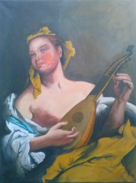 "copie de ""la joueuse de mandoline"" de Tiepolo"