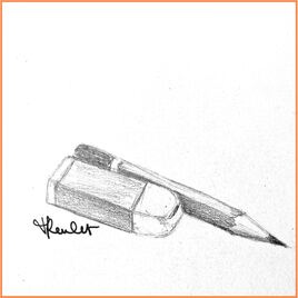 Crayon et gomme / Drawing Pencil and eraser