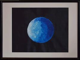 La lune bleue (reprise pour 2021) tous mes voeux amis de la galerie