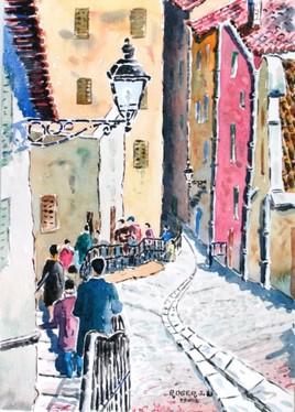 Descente de Fourvière dans le Lyon historique