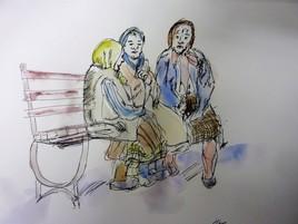 discussion de vieilles femmes