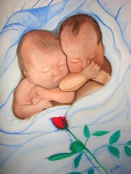 bébés et rose