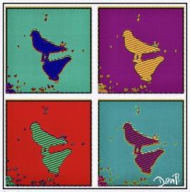 pop art  pigeon