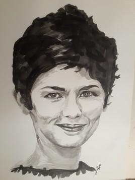 Audrey Tautou (encre de chine)