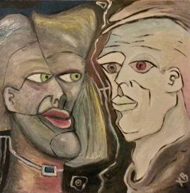 Peinture couple de gens 3