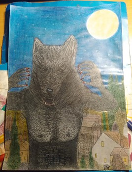 C' est La Nuit Lunée Que Sort Le Loup-Garou !