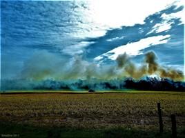 entre nuage et fumée..