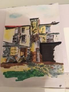Maison abandonnée couleur