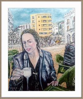La pause café à la place Guilledon
