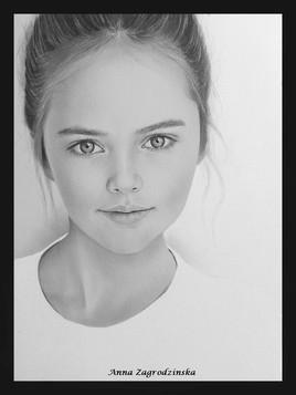 Dessin, portrait de Kristina Pimenowa