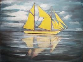 le bateau jaune